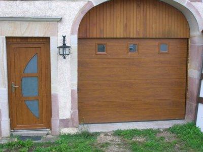 Porte de garage sectionnelle sur mesure devis pose prix for Portail de garage sectionnel sur mesure