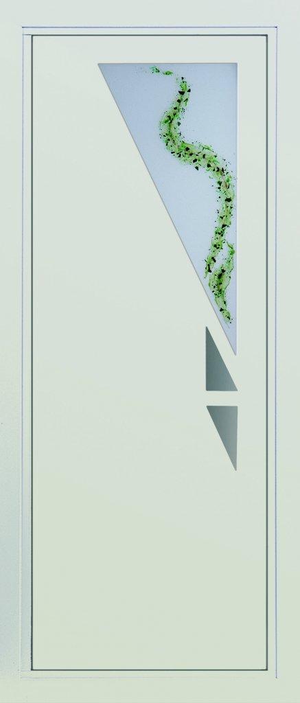 Porte d 39 entr e contemporaine devis pose prix portes for Porte 5 panneaux shaker